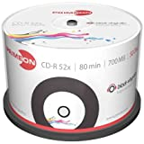 Primeon 2761107 CD-R Rohlinge (80 Min, 700MB, 52x Cakebox, 50-er Spindel)