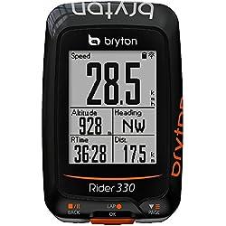Bryton Rider 330T Velocímetro Computador GPS, Unisex adulto, Negro, Única
