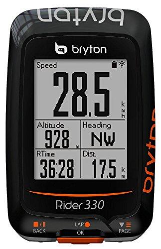 Bryton Rider 330E Velocímetro Computador GPS, Unisex Adulto, Negro, Talla Única