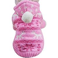 Sweater für Hunde Haustier SOMESUN Hund Katze Welpen Winter Warme Kleidung Jacke Mantel Bekleidung (27-35cm Büste, rosa #1)