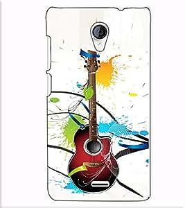 Fuson Designer Back Case Cover for Micromax Unite 2 A106 :: Micromax A106 Unite 2 (Designer guitar theme)
