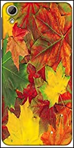 Snoogg Beautiful Autumn Maple Leaves Background Designer Protective Back Case Cover For HTC Desire 826
