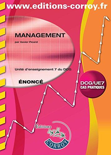 Management UE 7 du DCG : Enoncé