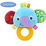 LILICAT Hochets jouet main Bell enfant en bas âge anneaux interactifs animaux mignons en peluche jouets en peluche animal hochet (A)