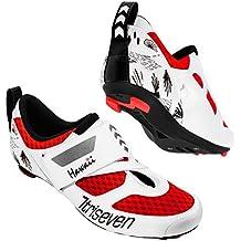 triseven Premium Triathlon Bicicleta Guantes – Ultra Ligero, Transpirable y Fibra de Vidrio Suela,