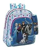 Disney Frozen - Die Eiskönigin Anna und Elsa, Rucksack mit Federmäppchen, blau/weiß (615), 38 x 32 x 12 cm
