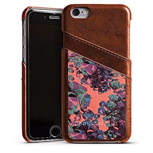 Apple iPhone 5 Housse Étui Silicone Coque Protection Pierres précieuses Motif Motif Étui en cuir marron