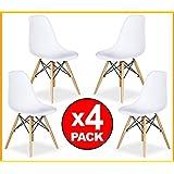 PACK 4 SILLAS comedor estilo Eames Tower en blanco