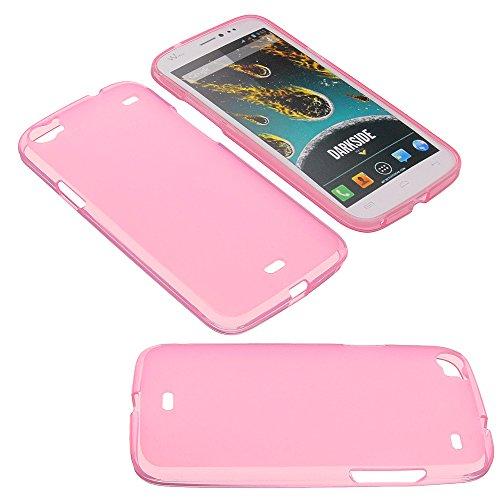 foto-kontor Tasche für Wiko Darkside Gummi TPU Schutz Handytasche rosa