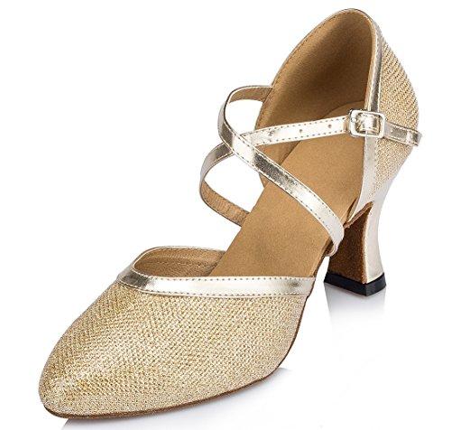 TDA , Bride de cheville femme 7cm Heel Gold