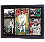 SGH SERVICES Gerahmter Foto-Druck mit Autogramm von Lewis Hamilton Formel 1 2018, gerahmt