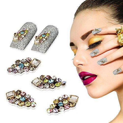 Yevita Nageldesign Nägel Strasssteine Nagel Kristall DIY Maniküre Glitter Blitzer 10 Stück
