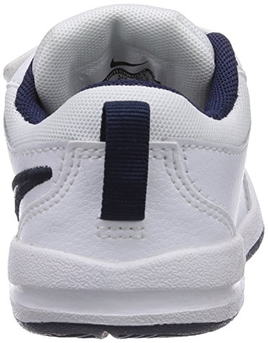 Nike Pico 4 (Tdv), Chaussures premiers pas bébé garçon Blanc (White/Midnight Navy)