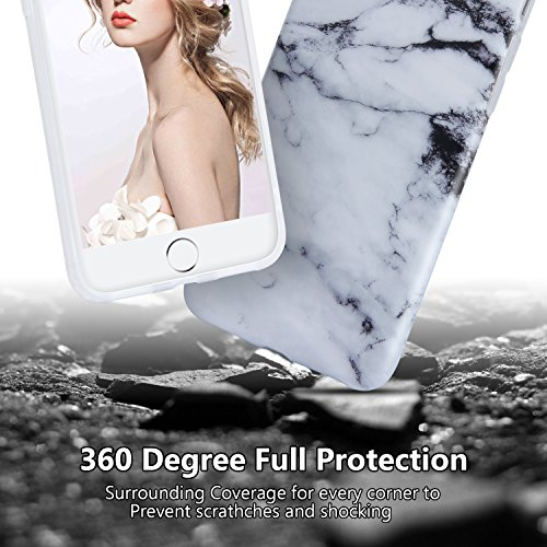 iPhone 8 Plus Marble Case, iPhone 7 Plus Marble Case, Imikoko Matt Soft Silicone Phone Case Stone Marble Painting Slim TPU Bumper Phone Case Flexible Protective Back Back Marble Lines Soft Back Cover  Muster 10