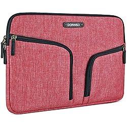 "DOMISO 11-11,6 Pulgadas Funda Resistente al Agua Bolsa Protectora para Ordenador Portátil/Tablet / 11.6"" MacBook Air/Microsoft Surface Pro 5, 4, 3 / ASUS/HP / Acer/MSI / Lenovo, Rojo"