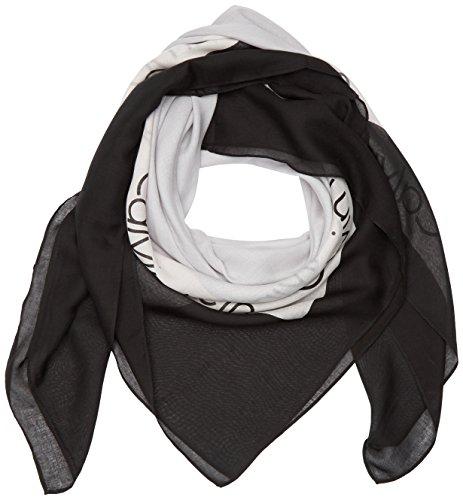 calvin-klein-logo-square-scarf-sciarpa-donna-nero-black-001-taglia-unica-taglia-produttore-os