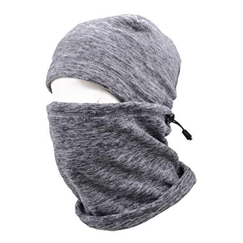 TRIWONDER Balaclava Hood Hat Thermal Fleece Gesichtsmaske Nackenwärmer Winter Ski Maske Full Face Cover Cap (Grau - 17) Winter-ski-maske