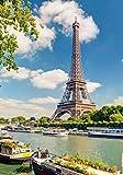 XXL Poster 100 x 70cm (S-833) Eiffelturm in Frankreich / Paris am Seine Ufer (Lieferung gerollt!)
