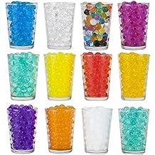 Witasm Bolas de Agua Bolitas de Gel Decorativas 12 Colores 5000 Piezas Perlas Hidrogel Canicas de Agua para Plantas Decoración, 20 Paquetes