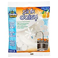 Compac Sink Daisy Scented Sink Strainer, Mandarin Orange, 2 Count