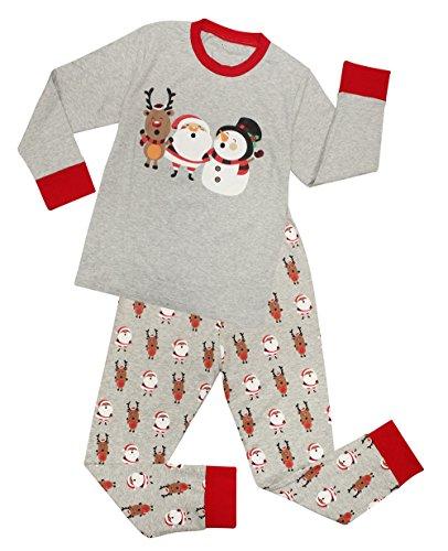 CharmLeaks Jungen Schlafanzug PJs Mädchen Pyjama Unisex Zweiteiler Schlafanzug Weihnachten 104, 2-3 Jahre (Pjs Mädchen)
