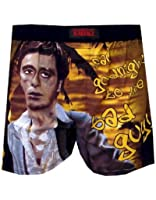 Scarface Underwear, Mens Say Goodnight Bad Guy Boxer Shorts, Black