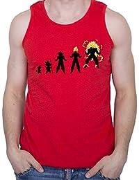 GIOVANI & RICCHI Herren Son Goku Vegeta Evolution Muskelshirt Tank Top Fitness Shirt in verschiedenen Farben