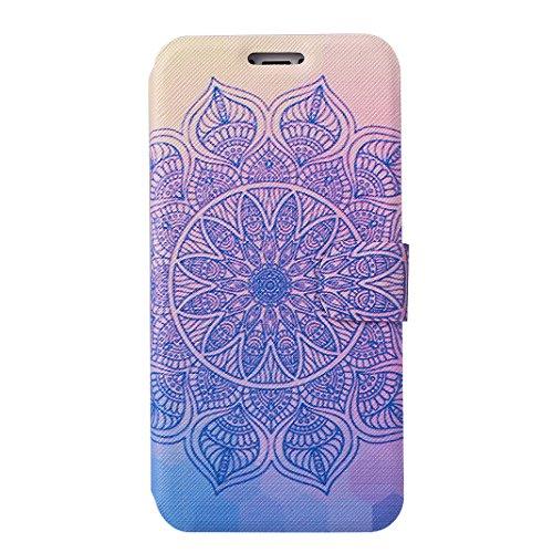 Custodia Moda Per iPhone X, Asnlove PU Pelle Caso Funzione Portafoglio Cover Motif di Colore Cassa Flip Libro Case Bumper Antiurto Protezione Completa Shell Per iPhone X - Colore 1 Colore 4