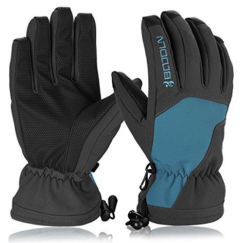 Skihandschuhe, HiCool Ski-/Snowboard-Handschuhe Sporthandschuhe Winterbekleidung Thermohandschuhe für Herren Damen (Blau/Schwarz, S)