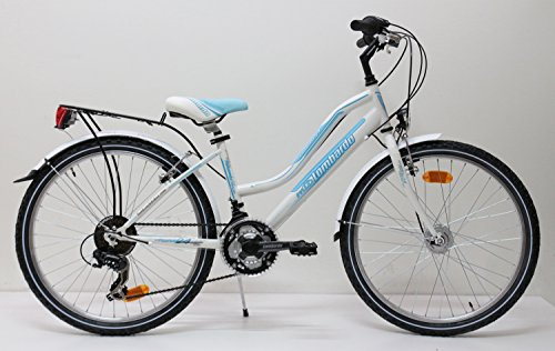 City Bike Bici Bambina 24 Lombardo Panarea City 18v Skybluewhite