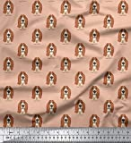 Soimoi 44 Zoll breites Moos Georgette Basset Hound Dog