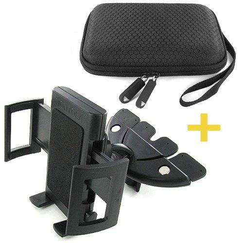 MONTOLA® Capto X5 KFZ Universal CD-Schacht Navigation Halterung & Nylon Hardcase Tasche