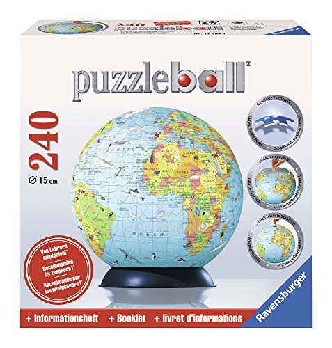 Ravensburger 11509 - Kinderglobus, englisch - 240 Teile puzzleball®