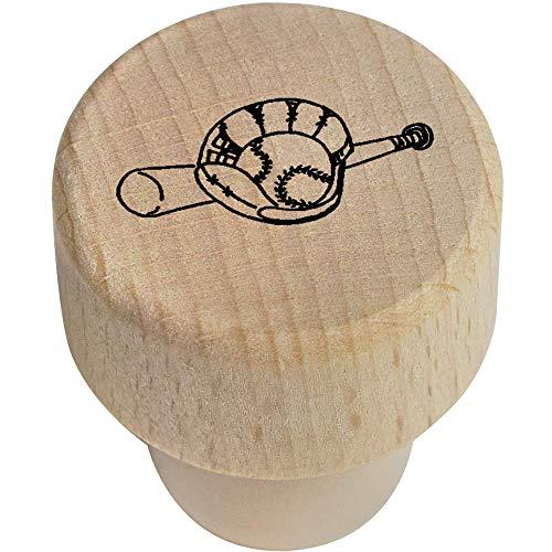 Azeeda 19mm 'Baseballschläger und Handschuh' Flaschenverschluss (BS00008589)