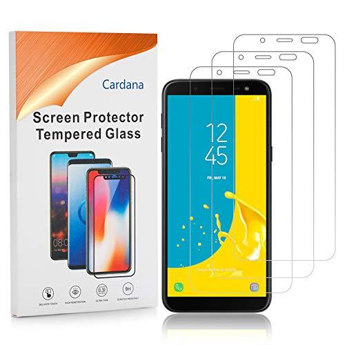 Cardana | 3X bruchsicheres Panzerglas für Samsung Galaxy J6 2018 | Schutzfolie aus 9H Echt Glas