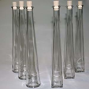 12 set lik rflaschen zierflaschen glasflaschen zum selbstabf llen 200ml k che haushalt. Black Bedroom Furniture Sets. Home Design Ideas