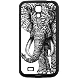 Black and White Aztec Elephant Protective Rubber Cover Case for SamSung Galaxy S4