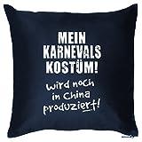 Goodman Design  Karneval Deko Kissen ::: Mein Karnevals Kostüm ::: Navy-Blau