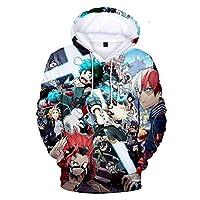 Boku No Hero Academia My Hero Academia Hoodie,3d Print Midoriya Izuku Plus Velvet Cosplay Sweatshirt Pullover-u Children 130