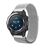 Ansenesna Sportuhr Armband Einstellen Luxus Milanese Edelstahl Uhrenarmband für Sport Digitaluhr Huawei Watch 2 (Silber)