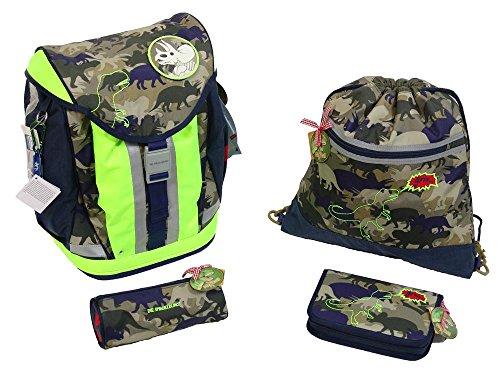 Die Spiegelburg Schulranzen-Set DIN 4-tlg Flex Style T-Rex World t-rex world camouflage