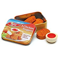 Wooden Play Food - Pretend Play Grocery Shop - Chicken Nuggets Iglo in a Tin by Erzi