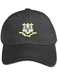 Connecticut Flag Pure Color Baseball Cap Cotton Adjustable Kid Boys Girls  Hat c42ec6dda5b7
