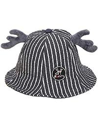 Hosaire 1pc Chapeau de Pêcheur Mignon pour Enfants Bonnet de Noël en Corne  d orignal 8cbafe01f3a