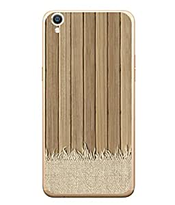 PrintVisa Designer Back Case Cover for Oppo F1 Plus :: Oppo R9 (Wooden Patterns Vertical Bars Cotton Cloth)