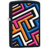 Zippo 60000940 Bright Pattern Briquet Laiton Noir Mat 3,5 x 1 x 5,5 cm
