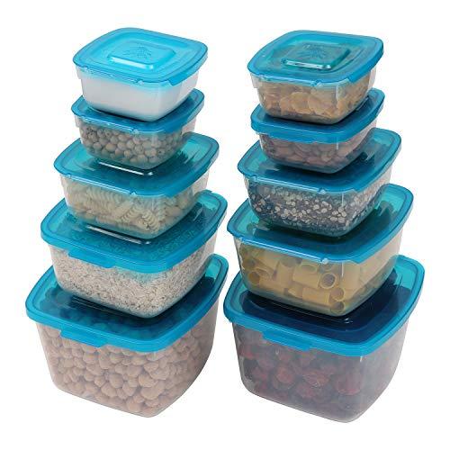 Conteneurs Alimentaires / Plastique Cuisine Conteneurs de Stockage 10 Pack - Hermétique Transparent Cuisine Boîte de Rangement Pour Facile Espace e Rangement de Légume, Aliments Secs,Céréale,Riz Grain