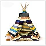 MUJING Indoor Baumwolle Leinwand Pine Print Zelt, Hund Haus Familie Zelt, Hund und Katze Pet Produkte (mit Matte),L