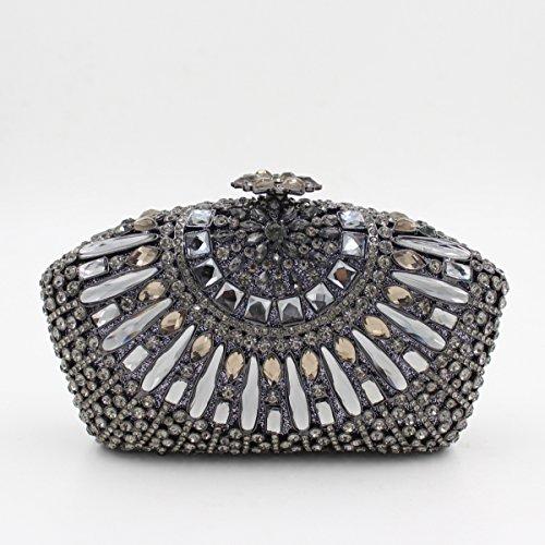 Lady Abendessenbeutel Kristall-Diamant-Diamant-Mappe Brautbeutel Handtasche Bankett-Paket color 4