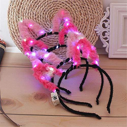 ck Party Cosplay Kostüm Stirnband LED Katze Tier Ohr blinken Haarband Kopfschmuck leuchtende Party Supplies Haarband Style 9 ()